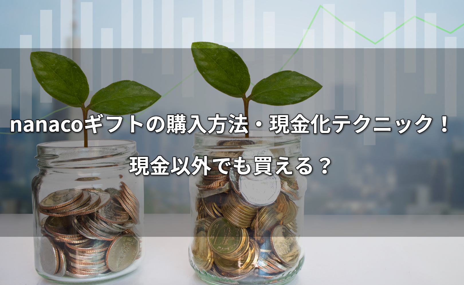 nanacoギフトの購入方法・現金化テクニック!現金以外でも買える?